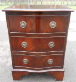 SOLD - Small Mahogany Chest of Drawers with Serpentine Front